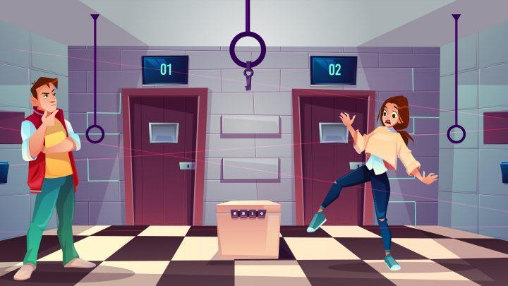 Kreslený obrázok z únikovej hry