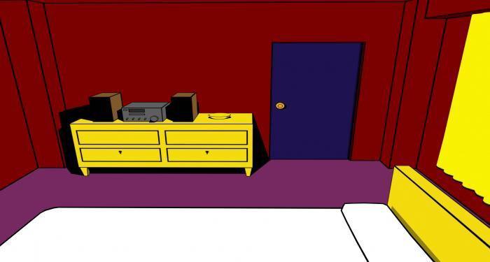 Screen z hry Crimson Room, ktorá bola námetom na skutočné únikové hry